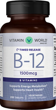 Vitamin World Vitamin B-12 Tablets 1500mcg