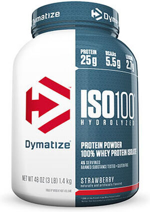 ISO-100® Whey Protein Isolate Strawberry 3 lbs., , hi-res