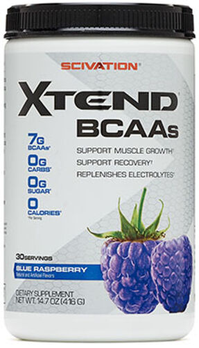 Scivation Xtend BCAAs Blue Raspberry 14.7 oz. Powder