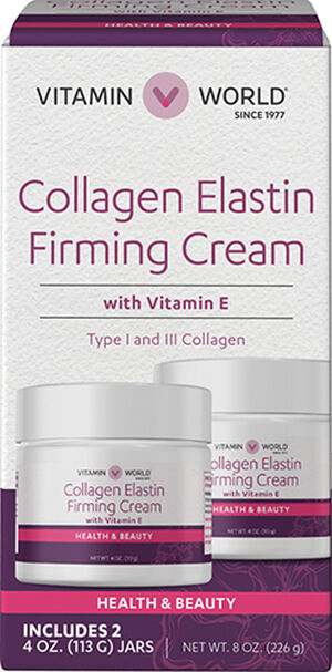 Vitamin World Collagen Elastin Firming Cream With Vitamin E 2 Pack