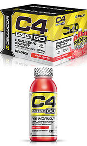 C4® On The Go Preworkout Energy Drinks Fruit Punch