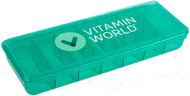 Vitamin World 7 Day Vitamin Pill Organizer 1 Unit Green