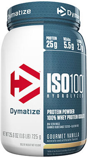 ISO-100® Whey Protein Isolate Gourmet Vanilla 1.6 lbs., , hi-res