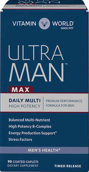 Vitamin World Ultra Man™ Max Daily Multivitamins 90 Caplets