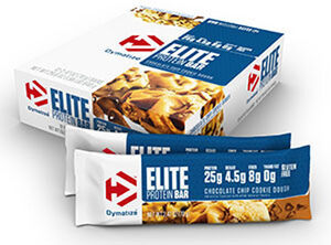 Dymatize Elite Protein Bars Chocolate Chip Cookie Dough 12 Bars