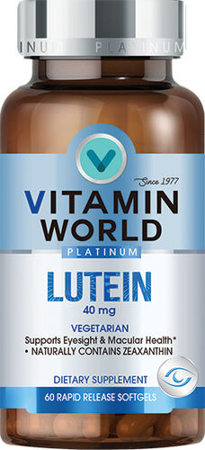 Vitamin World® Platinum Lutein 40 mg.