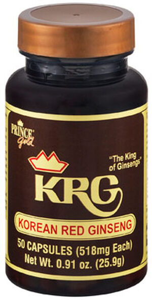 Prince of Peace Korean Red Ginseng 518 mg. 50 Capsules