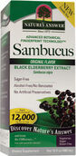 Nature's Answer Sambucus 12000 mg. 16 oz. Liquid Original Black Elderberry extract
