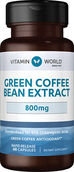 Vitamin World Green Coffee Bean Extract 800 mg. 60 Capsules