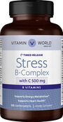 Vitamin World Stress B-Complex with 500 mg. Vitamin C Timed Release 120 Caplets 500mg.