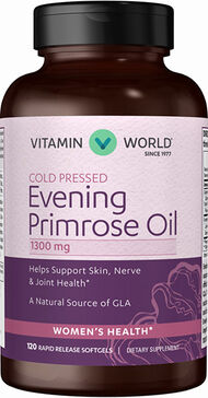 Vitamin World Evening Primrose Oil 1300 mg. 120 Softgels