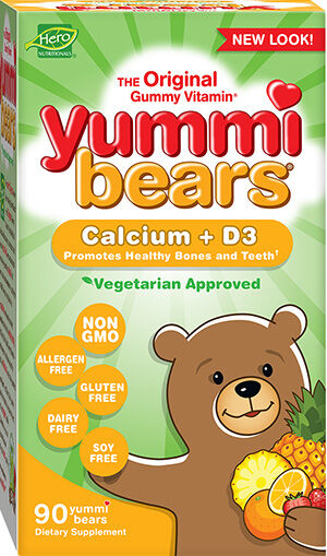 Hero Nutritionals Yummi Bears Vegetarian Calcium + D3