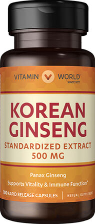 Vitamin World Korean Ginseng 500mg