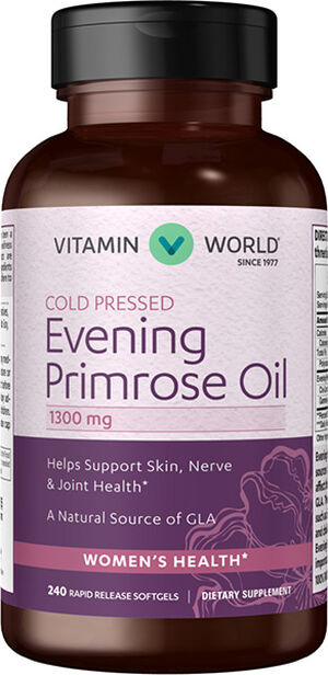 Vitamin World Evening Primrose Oil 1300mg 240 Softgels 1300mg