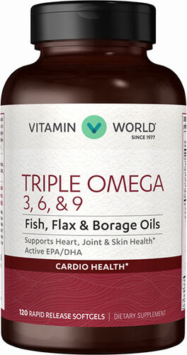 Vitamin World Triple Omega 3-6-9 Fish Oil, Borage Oil, Flax Seed Oil