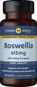 Vitamin World Boswellia Extract 615 mg. 60 Tablets