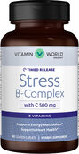 Vitamin World Stress B-Complex with 500 mg. Vitamin C Timed Release 60 Caplets
