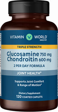 Vitamin World Glucosamine Chondroitin Triple Strength 120 Caplets