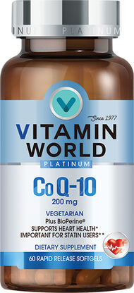 Vitamin World® Platinum Co Q-10 200 mg.