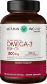 Vitamin World Omega-3 Fish Oil 1500 mg. 120 Softgels