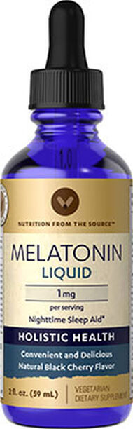 Vitamin World Liquid Melatonin 1 mg. 2 oz. Liquid Black Cherry
