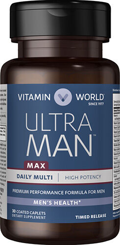 Vitamin World Ultra Man™ Max Daily Multivitamins 30 Caplets