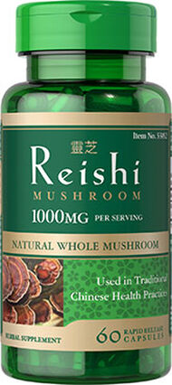 Vitamin World Reishi Mushroo 1000 mg. 60 Capsules