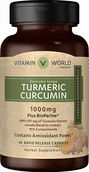 Vitamin World Turmeric Curcumin 1000 mg 60 Capsules 1000mg.