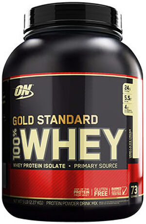 Optimum Nutrition Gold Standard 100% Whey Protein Vanilla Ice Cream 5 lbs. 5 lbs