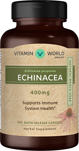 Vitamin World Echinacea 400mg 200 Capsules 400mg