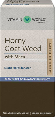 Vitamin World Horny Goat Weed with Maca 500 mg. 60 Capsules Concentrated Horny Goat Weed extract