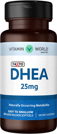 Vitamin World 7-Keto™ DHEA 25 mg. 60 Softgels