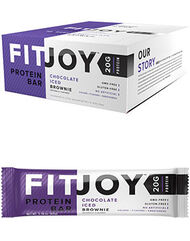 FitJoy FitJoy Protein Bars Chocolate Iced Brownie 12 Bars
