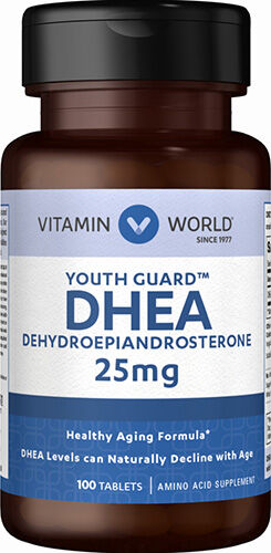 Vitamin World DHEA 25mg 100 Tablets 25mg.