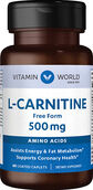 Vitamin World L-Carnitine 500mg. 60 Caplets