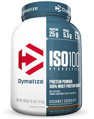 Dymatize ISO-100® Whey Protein Isolate Gourmet Chocolate 3 lbs. 3 lbs. Powder