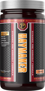 Precision Engineered® Elite Performance Haymaker Pre Workout Orange 17 oz. Powder