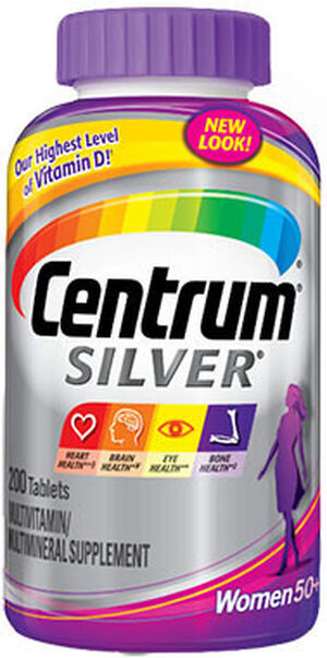 Centrum® Silver® Women 50 Plus Multivitamins 200 Tablets
