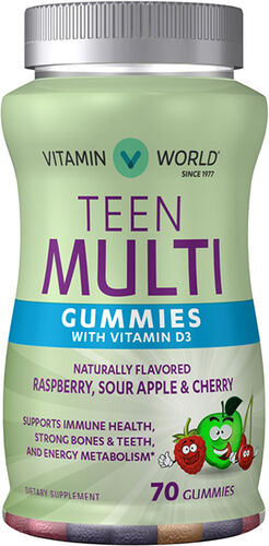 Vitamin World Teen Multi Gummies with Vitamin D3
