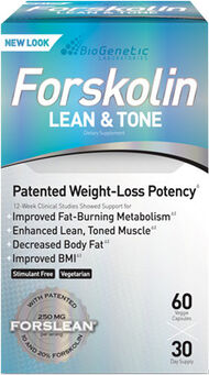 iSatori, Inc. Forskolin Lean & Tone 60 Vegi Caps 250mg.
