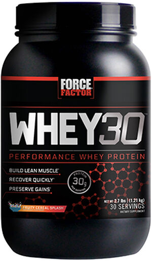 Whey30® Performance Whey Protein 2.7 lbs. Fruity Cereal Splash, , hi-res
