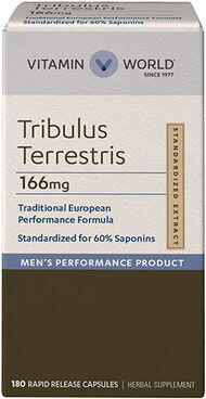 Vitamin World Tribulus Terrestris 250mg 166 mg. 180 Capsules