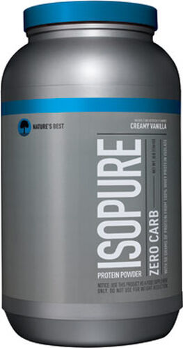 Nature's Best Isopure Zero Carb Whey Protein Isolate Creamy Vanilla 3 lbs. 3 lbs. Powder