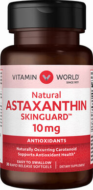 Vitamin World Natural Astaxanthin 10 mg. 30 Softgels 10mg.