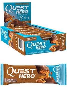 Quest Hero Protein Bars Chocolate Caramel Pecan