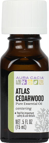 Aura Cacia Atlas Cedarwood Essential Oil 0.5 oz. Liquid