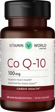 Vitamin World Q-Sorb™ Co Q-10 100 mg. 60 Softgels
