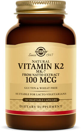 Natural Vitamin K2 (MK-7) 100 mcg.