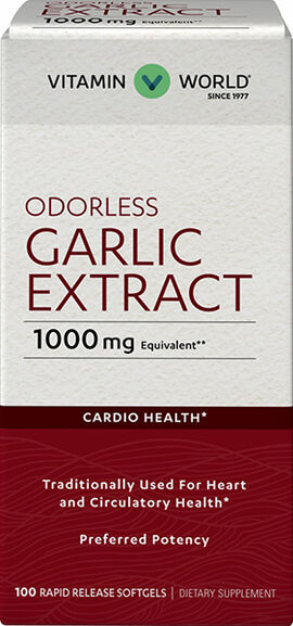 Odorless Garlic Softgels 1,000mg.