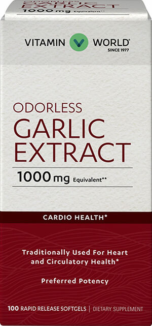 Odorless Garlic Softgels 1,000mg., 100, hi-res